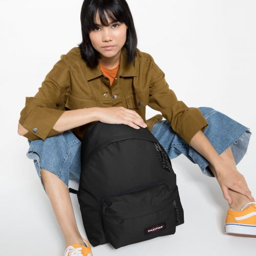 Padded Travell'r Black Backpacks by Eastpak - Front view