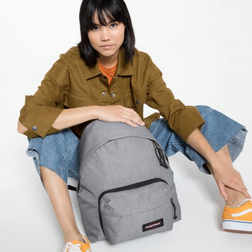 Padded Travell'r Sunday Grey Backpacks by Eastpak - Front view
