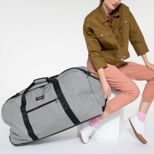 Warehouse + Sunday Grey Luggage by Eastpak - Front view