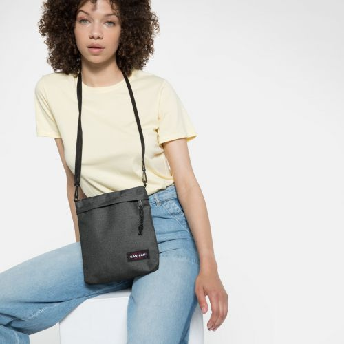 Lux Black Denim Shoulderbags by Eastpak - view 2