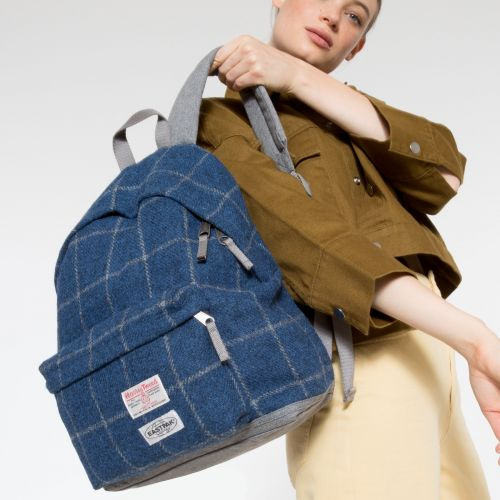Harris Tweed Padded Pak'r® Square Blue Backpacks by Eastpak - view 2