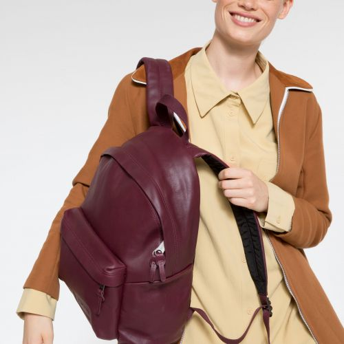 Padded Pak'r® Wine Leather Backpacks by Eastpak - view 2