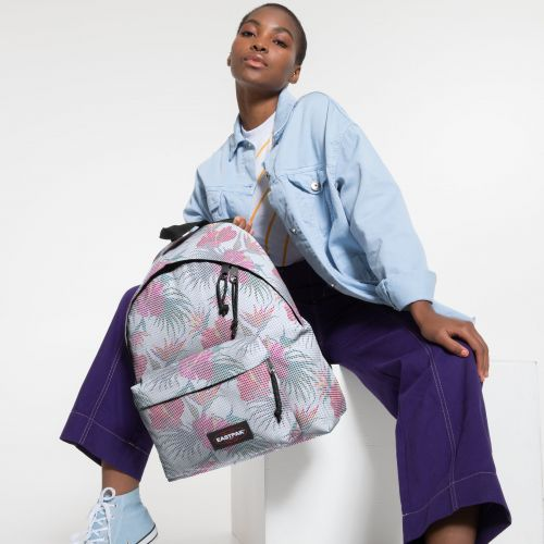 Padded Pak'r® Mesh White Hibiscus Backpacks by Eastpak - view 2