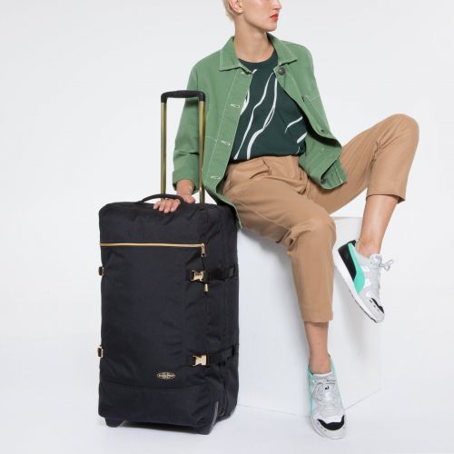 Tranverz M Goldout Black-Gold Luggage by Eastpak - view 2