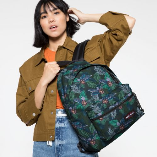 Padded Zippl'r Trippy Green Backpacks by Eastpak - view 2