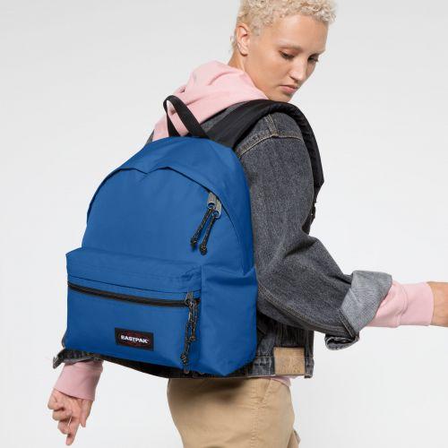 Padded Zippl'r Mediterranean Blue Backpacks by Eastpak - view 2