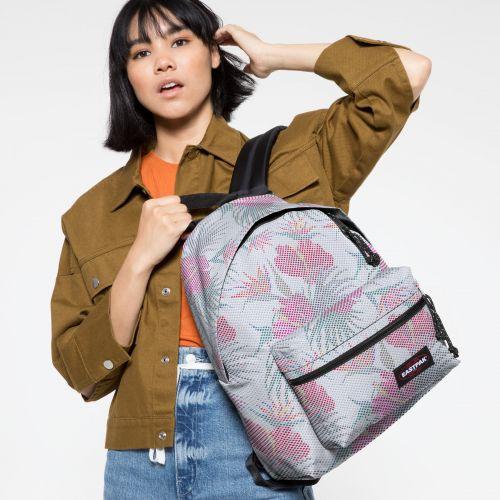 Padded Zippl'r Mesh White Hibiscus Backpacks by Eastpak - view 2