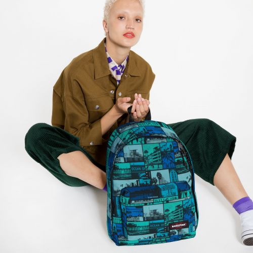 Out Of Office Pix Blue Backpacks by Eastpak - view 2
