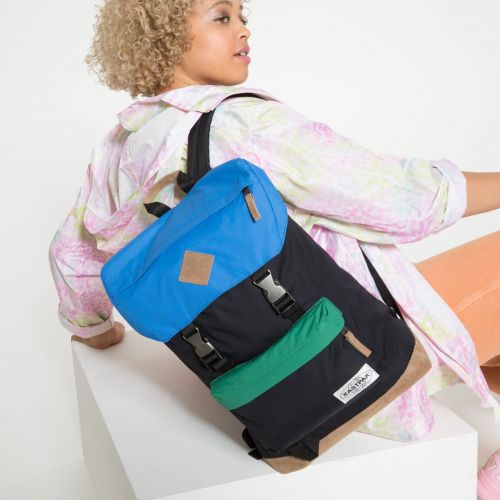 Rowlo Into Nylon Blocked Backpacks by Eastpak - view 2