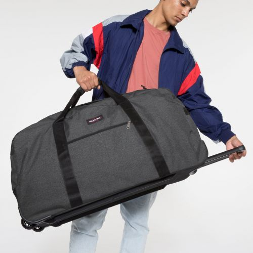 Container 85 + Black Denim Luggage by Eastpak - Front view