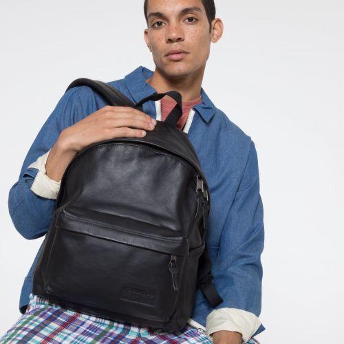Padded Pak'r® Black Ink Leather
