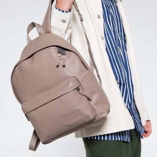 Padded Pak'r® Taupe Leather Backpacks by Eastpak - view 5