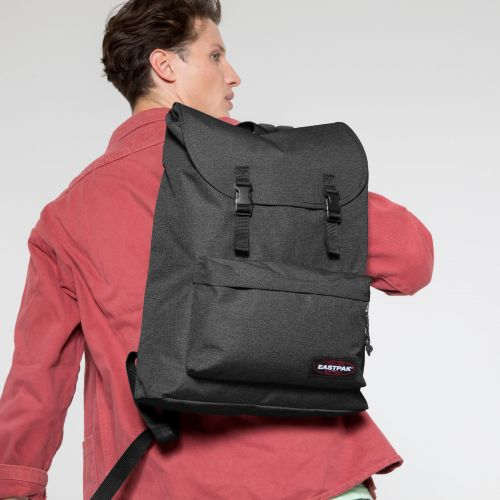 London + Black Denim Backpacks by Eastpak - view 5