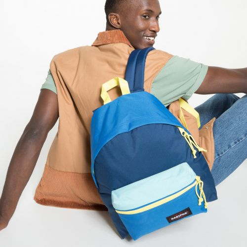 Padded Zippl'r Blocked Navy Backpacks by Eastpak - view 5