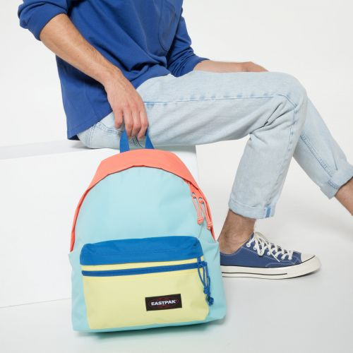 Padded Zippl'r Blocked Blue Backpacks by Eastpak - view 5