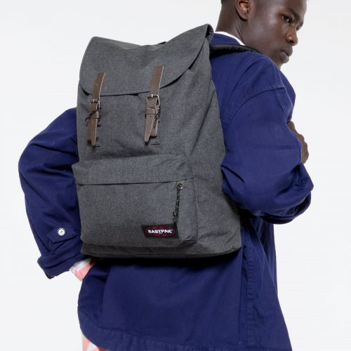 London Black Denim Backpacks by Eastpak - view 5