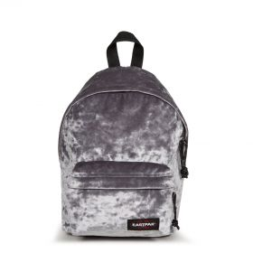 Orbit XS Crushed Grey Backpacks by Eastpak - Front view