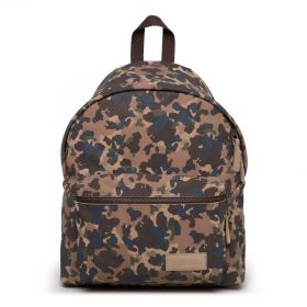 Padded Pak'R Camo Suede Backpacks by Eastpak - Front view