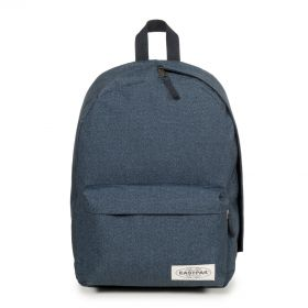 Padded Sling'r Muted Blue Backpacks by Eastpak - Front view