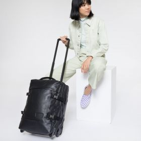 Tranverz S Black Ink Leather Luggage by Eastpak - view 2