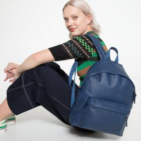 Padded Pak'r® Blue Leather Backpacks by Eastpak - view 2