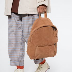 Padded Sleek'r Suede Rust Backpacks by Eastpak - view 5