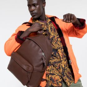 Padded Pak'r® Chestnut Leather Backpacks by Eastpak - view 5