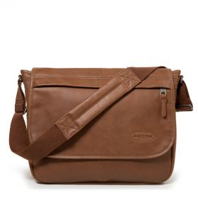 Delegate Brownie Leather Shoulder bags by Eastpak - Front view