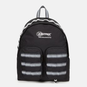 White Mountaineering Doubl'r Black Backpacks by Eastpak - Front view