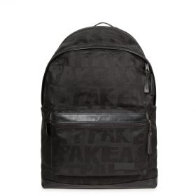 Padded Select Black Jaquard Backpacks by Eastpak - Front view