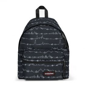 Padded Zippl'r Beat Black Backpacks by Eastpak - Front view