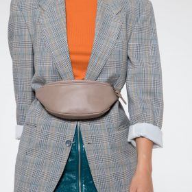 Springer Taupe Leather Accessories by Eastpak - view 2