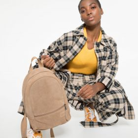 Lucia M Suede Brownie Backpacks by Eastpak - view 2