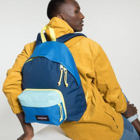 Padded Travell'r Blocked Navy Backpacks by Eastpak - view 5