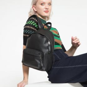 Orbit XS Black Ink Leather Backpacks by Eastpak - view 9