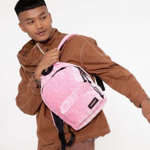 Orbit Velvet Pink Backpacks by Eastpak