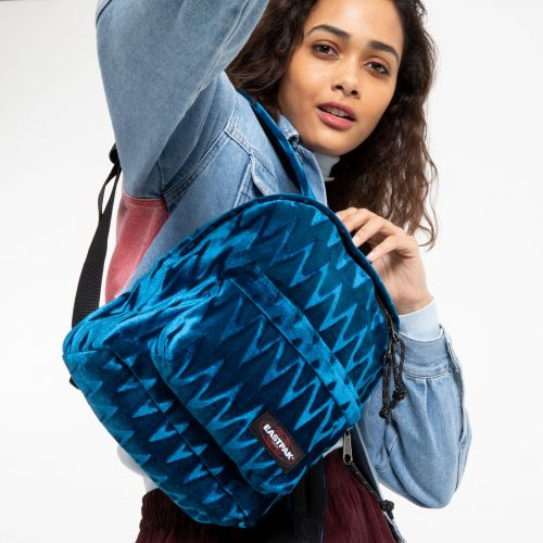 Orbit Velvet Blue Backpacks by Eastpak - view 0