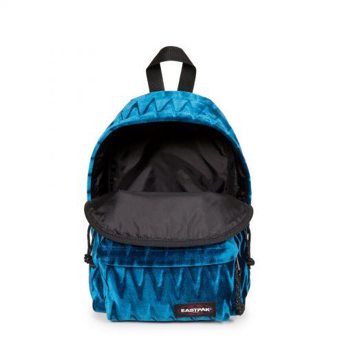 Orbit Velvet Blue Backpacks by Eastpak