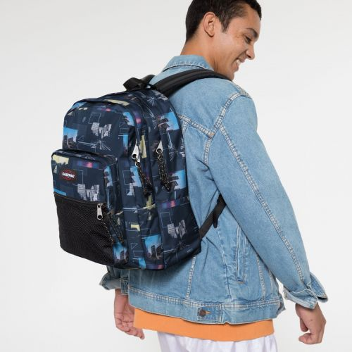 Pinnacle Shapes Blue Backpacks by Eastpak - view 0