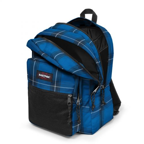 Pinnacle Checked Blue Backpacks by Eastpak