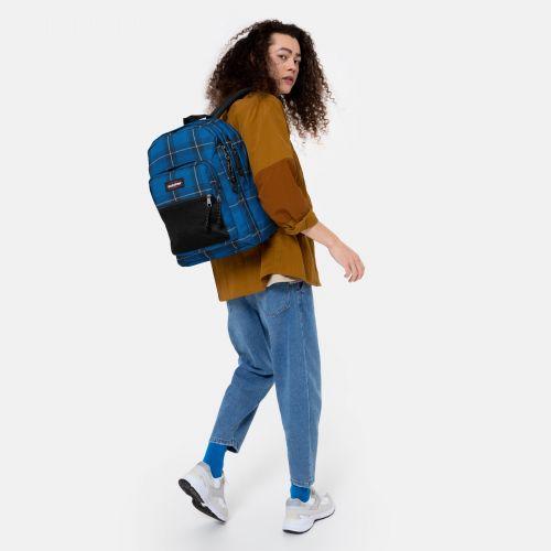 Pinnacle Checked Blue Backpacks by Eastpak - view 17