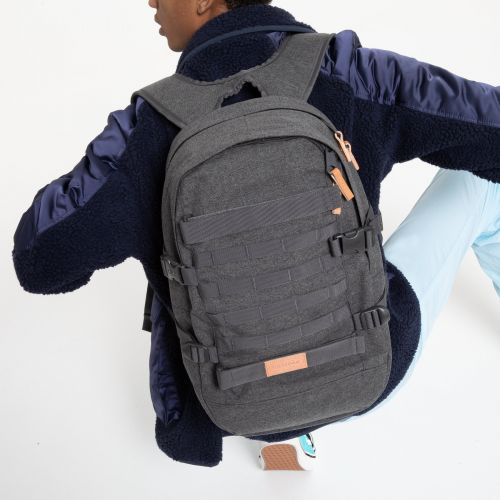 Floid Tact L Black Denim Backpacks by Eastpak - view 0