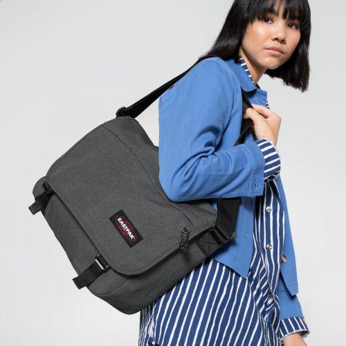 Delegate + Black Denim Shoulderbags by Eastpak - Front view