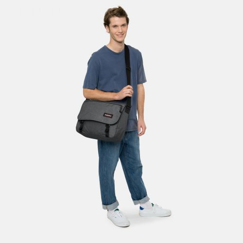 Delegate + Black Denim Laptop by Eastpak
