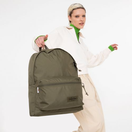 Padded Streamed Streamed Khaki Backpacks by Eastpak - view 0