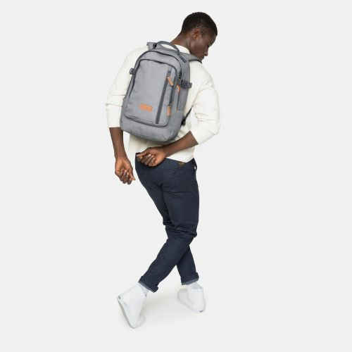Smallker Sunday Grey Backpacks by Eastpak - Front view