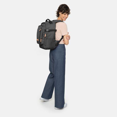 Smallker Black Denim Backpacks by Eastpak - Front view