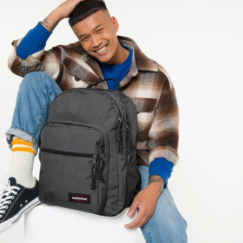 Morius Black Denim Backpacks by Eastpak - view 0