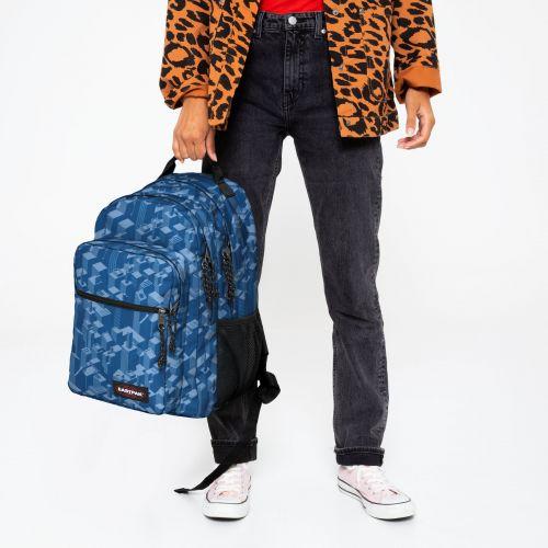 Morius Pixel Blue Backpacks by Eastpak