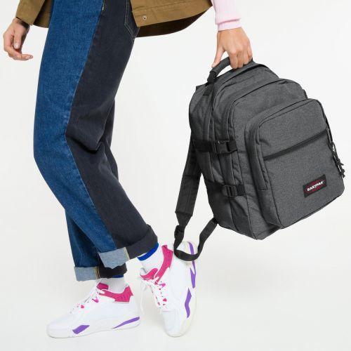 Walf Black Denim Backpacks by Eastpak